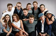 """The """"Avengers: Age of Ultron"""" cast poses for Entertainment Weekly  at San Diego Comic Con, July 26, 2014."""