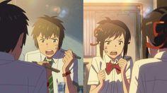 Naruto/Kimi no Na wa SasuSaku Otaku Anime, Manga Anime, Anime Art, Kimi No Na Wa, Your Name Movie, Your Name Anime, Mitsuha And Taki, Foto Youtube, Tsurezure Children