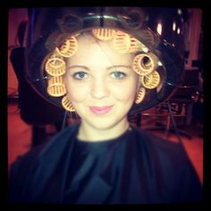 #college #hairdressing #nvq2 #haha #looklikeagranny #me #granny #hair #rollers #set #hooddryer #westsuffolkcollege #curlyhair #silly #funny #instagram #instapic #instadaily #picoftheday #selfie