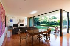 This project, a residential home in Petersham, in Sydney's Inner West, features incredible floor to ceiling windows. House Inside, Floor To Ceiling Windows, Natural Materials, Outdoor Spaces, Building A House, Indoor, House Design, Flooring, Interior Design