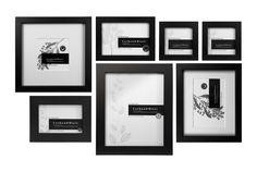 Black slim box wall of frames