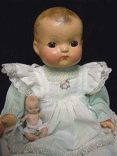 Vintage Composition Ideal Baby Doll - 1930's - 40's, Precious -  Restored!