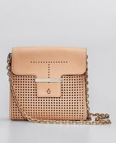 Ann Taylor - AT Handbags Belts - Perforated Leather Mini Bag