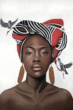 FEATURE: See Bristol-based painter Tom Rawles' surreal, Renaissance-inspired portraits Black Girl Art, Black Women Art, Black Art, Art Girl, Black Girls, African Beauty, African Women, African Fashion, African American Art