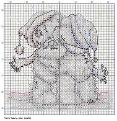 tatty teddy cross stitch patterns free - Google Search