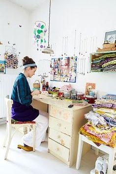 jasna janekovic's home studio through her library adventures... sweet...