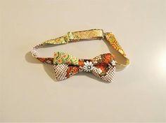 Men's bow tie made with vintage KIMONO silk satin crape