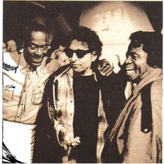 Bob Dylan with Chuck Berry and James Brown
