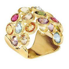 Ernest Jones - Marco Bicego 18ct yellow gold multi stone ring