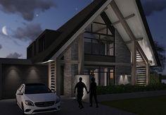 Villa G - interior | architecture | totaal concepten | interieur | tuinplan - Marco van Veldhuizen Modern Barn, Modern Architecture, Indoor Outdoor, Facade, Beautiful Homes, Villa, Cottage, Interior Design, Nice