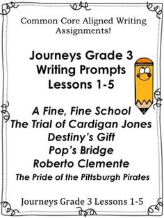 Journeys 4th grade the right dog for the job unit 4 lesson 2 journeys grade 3 unit 1 lessons 1 5 common core writing prompts fandeluxe Gallery