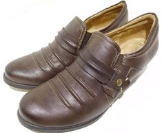 58c91696dca Naturalizer Kaz Women Round Toe Synthetic Brown Loafer US 7M