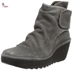 Fly london Yegi Grey Suede Womens Wedge Ankle Boots Shoes-40 - Chaussures fly london (*Partner-Link)