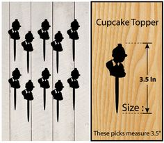 Ca160 New Arrival 10 pcs/Decorations Cupcake Topper/ by Sixday7Day