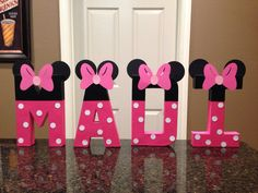 Minnie Mouse Custom Name Letters price is per von KimsCrafts39
