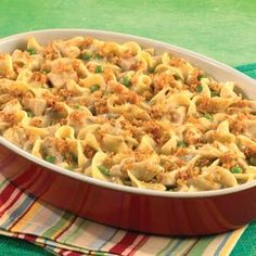 Chicken and noodle casserole. I make this quite often and its always easy and good! Extra cheese makes it extra tasty.