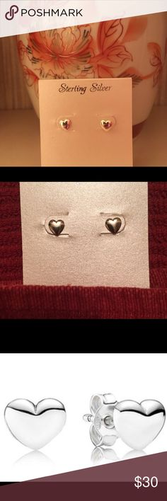 Sterling Silver Heart Stud Earrings 💖Solid Sterling Silver Heart Stud Earrings. Butterfly Backings so you won't lose these cute beauties!💖 Perfect for every day and also, ideal for your 2nd hole or stacked with another small pair of earrings. Dimensions: 5mm (L) x 5mm (W) x 1mm (D).💖 I ordered these online for myself and/or gifts so they don't have tags.  I have 2 pairs still available! They are $18 each! 🌟🌟Don't forget to Bundle for Savings!🌟🌟 Jewelry Earrings