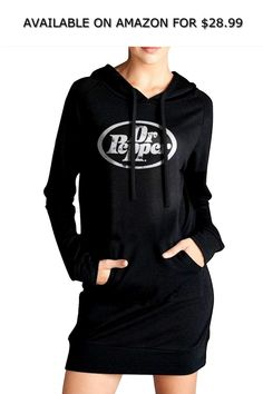 5d0c8a467cd01 Adhone Dr Pepper Women s Long Sleeve Pockets Sweatshirts Pullover Hoodies M  ◇ AVAILABLE ON AMAZON FOR   28.99 ◇ Feature  Funnel Neck Long Sleeve  Pulloover ...