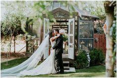 Twin Oaks Garden Wedding. The bride wore a dress by Stella York