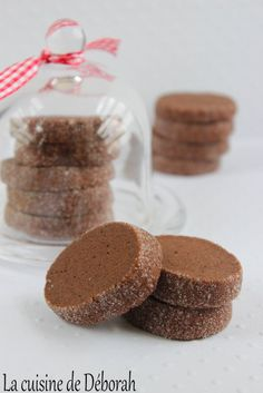 Diamond chocolate shortbread, crumbly and very tasty, recipe from the Maison - Desserts With Biscuits, Köstliche Desserts, Dessert Recipes, Biscuit Cookies, Cupcake Cookies, Brownie Cookies, Shortbread, Baking Recipes, Bonbon
