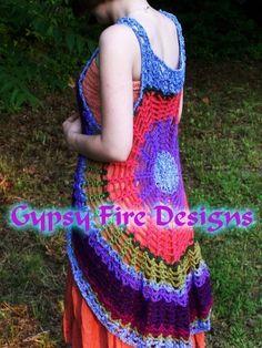 Spider Web Mandala Vest  Dress PATTERN Make your own