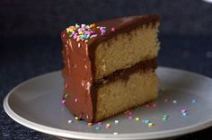 Yellow Cake Recipe made with butter, eggs, rice flour, vanilla, potato starch, tapioca starch, xanthan gum, and almond milk.