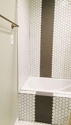 Crisp white hex tile.