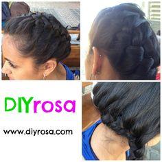 Trenza por un lado Facebook: fb.com/DIYrosa Twitter: @DIYrosa Instagram: diyrosa