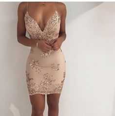 dress glitter dress glitter beautiful clothes weheartit prom dress sexy party dresses sparkle nude beige short dress rose rose gold party pink pink dress special occasion dress tumblr instagram gold dress tumblr dress sparkly dress sparkle dress prom short sequin v neck