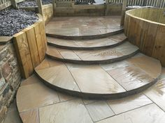 Easy access indian stone steps, great for young kids.