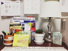 I knew if I didn't redecorate my office over the summer, it wouldn't get done once the school year started. I gathered things throughout th. Guidance Office, Office Makeover, School Counselor, High School, Counselling, Psych, Diy, Ideas, Bricolage