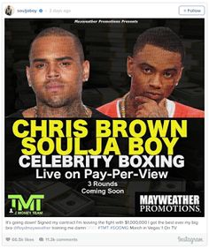 Chris Brown And Soulja Boy Agreed To Boxing Match - With Mike Tyson And Floyd  Mayweather