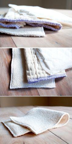Cloth Diaper Insert DIY | Organic, Washable, Homemade, DIY, Tutorial