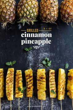 Recently Gone Vegan? Try These Simple Healthy Vegan Snacks Receta Bbq, Bbq Pineapple, Bbq Recipes With Pineapple, Vegetarian Recipes, Healthy Recipes, Grilled Vegan Recipes, Vegetarian Grilling, Grilled Fruit, Grilled Vegetables