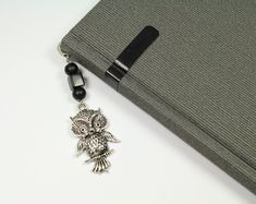 Bookmark, for books, owl, black, silver, for man, for boy, for teacher, for him, book, gift, box gift Bookmarks For Books, How To Make Bookmarks, Star Jewelry, Star Earrings, Book Gifts, Different Colors, Black Silver, Wedding Jewelry, Glass Beads