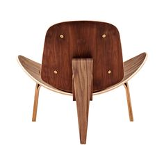 Wings Chair In Walnut And Fabric