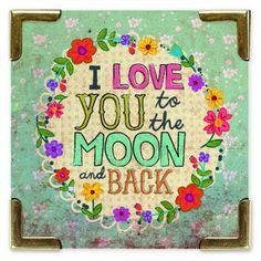 Love You To The Moon Corner Magnet