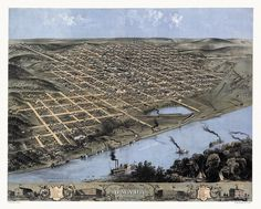 Historic Map Of Omaha Nebraska 1868 Douglas County Poster