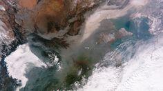 La nube contaminante que afecta a China vista desde el espacio   BolsaSpain