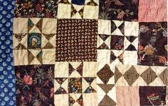 Civil War Quilts: Stars in a Time Warp 22: White Ground Chintzes