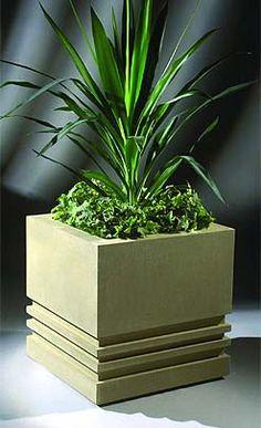 Cube Diy Concrete Planters, Cement Garden, Stone Planters, Cement Planters, Wooden Planters, Planter Boxes, Concrete Table, Architecture 3d, Contemporary Planters
