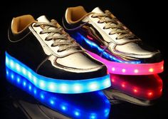LED light-up shoes.