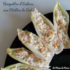 endives-aux-miettes-crabes-crabes-endives-miettes-angelaseinfachersalat/ - The world's most private search engine Seafood Appetizers, Appetizer Recipes, Antipasto, Clean Eating Snacks, Finger Foods, Buffet, Brunch, Good Food, Food And Drink
