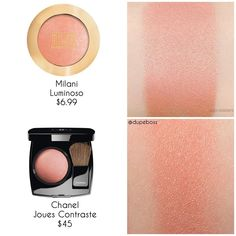 ❗️❗️DUPE PROOF ❗️❗️We love us some blush! But not if it's $45! The @chanel.beauty blush in Joues Contrase is a gorgeous peachy blush! The… #MascaraBeforeAndAfter #BlusherMakeup Beauty Dupes, Makeup Dupes, Skincare Dupes, Makeup Haul, Lipstick Dupes, Makeup Products, Beauty Hacks, Chanel Blush, Chanel Beauty