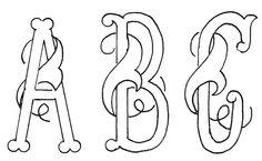 Monogram Alphabet