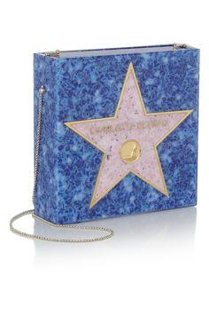Charlotte Olympia walk of fame Perspex matchbox clutch