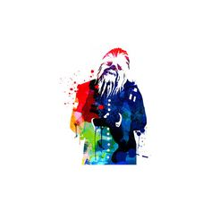 Chewbacca in a Suite Watercolor Wall Art Print ($30) ❤ liked on Polyvore featuring home, home decor, wall art, british tv shows, entertainment, television, tv genres and british home decor