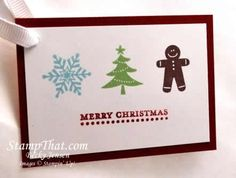 Stampin' Up card - Jolly Bingo Bits set