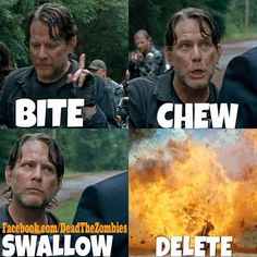 The Walking Dead: Season 6 - Negan's Gang - Bite, Chew, Swallow,  Delete