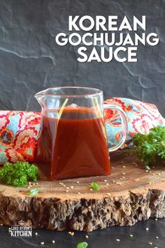 Gochujang has taken the world by storm as of late, and we love it! Korean Gochujang Sauce is sweet and spicy, but it's also tangy and savoury. This is an all-purpose sauce, meaning that it's great on just about anything you can think of! #korean #gochujang #sauce #koreansauce #gochujangsauce #spicy #sweetandsticky Homemade Sauce, Sweet And Spicy, Sauce Recipes, Alcoholic Drinks, Good Food, Food And Drink, Appetizers, Korean, Favorite Recipes